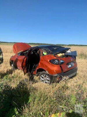 Кроссовер вылетел с трассы в Лаишевском районе РТ, один человек погиб и трое в больнице