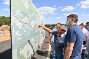 Минниханов ознакомился сходом строительства БКК иВознесенского тракта