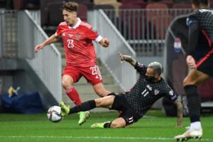 Сборная России сыграла вничью с Хорватией в отборочном матче к футбольному ЧМ-2022