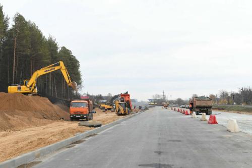 Первый участок дублера Горьковского шоссе в Казани построен на 90%