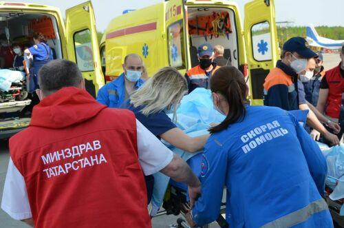 Галимова: Восемь пострадавших в Казани перенесли транспортировку в Москву стабильно