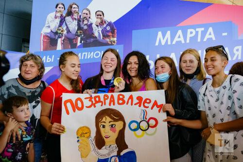 Встреча Олимпийской чемпионки по фехтованию на рапирах  Марты Мартьяновой