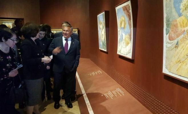 Рустам Минниханов посетил Третьяковскую галерею