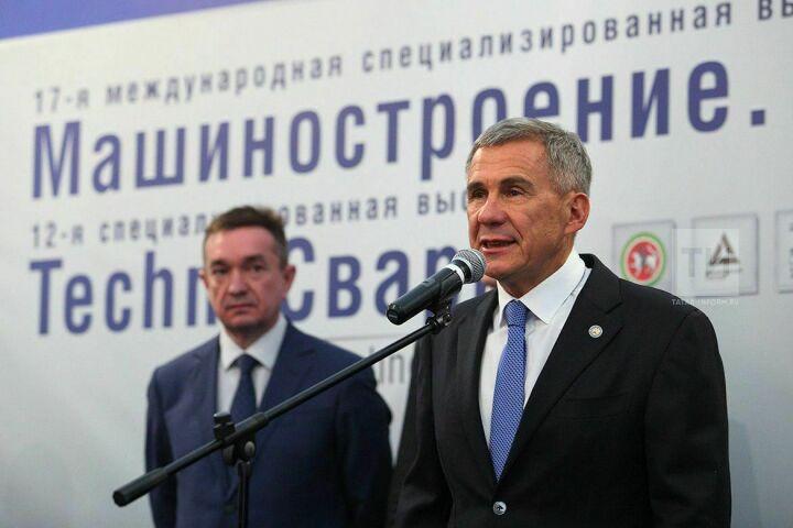 Рустам Минниханов открыл две специализированные выставки в «Казанской ярмарке»
