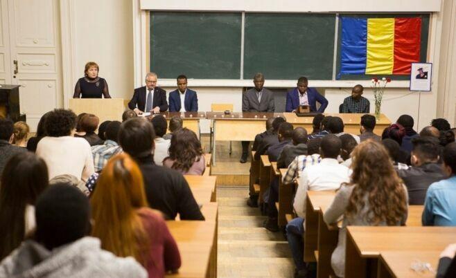 В КФУ простились с убитым студентом из Африки