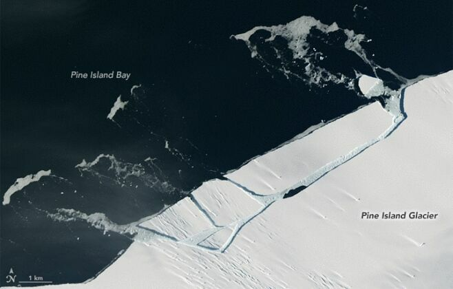 Огромный айсберг размером с Манхэттен откололся от Антарктиды