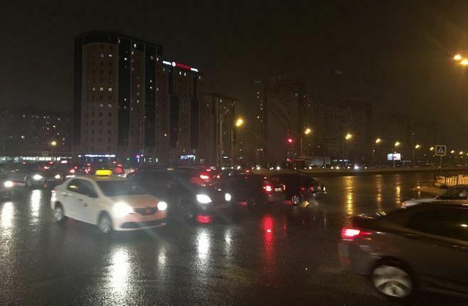 Фото: на Южной трассе в Казани большая пробка