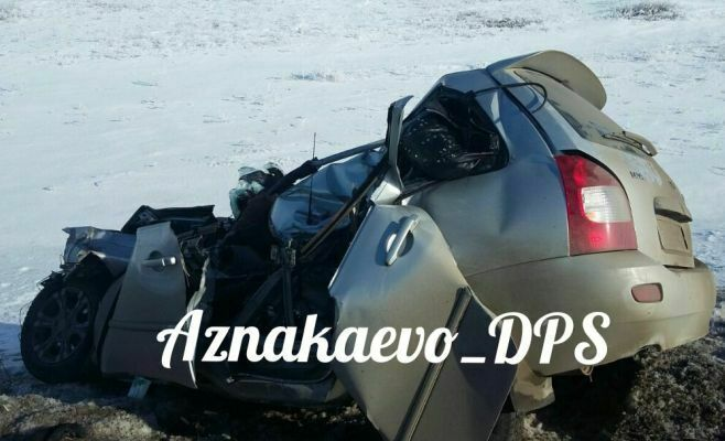 В Азнакаевском районе в ДТП погибли два человека