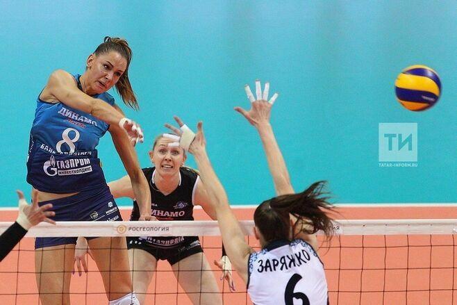 Волейболистки казанского «Динамо» уступили в третьем матче финала чемпионата России
