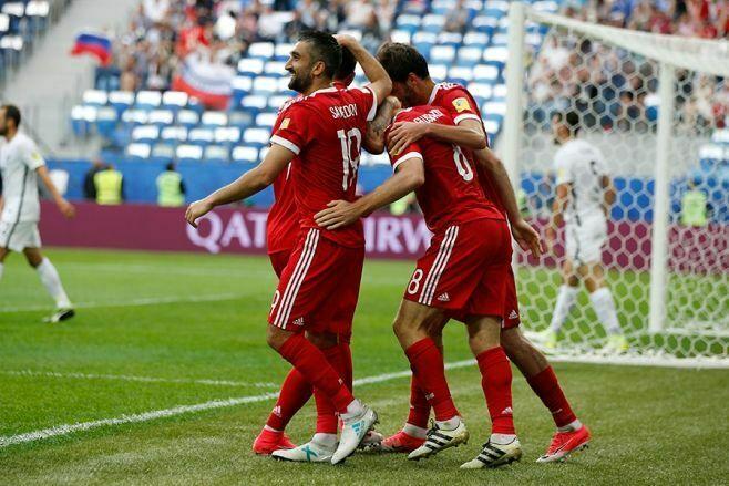 Сборная России с победы стартовала на Кубке конфедераций