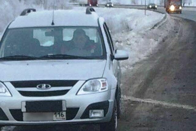 В Татарстане появилась «Лада Ларгус» с камерой видеофиксации на месте госномера