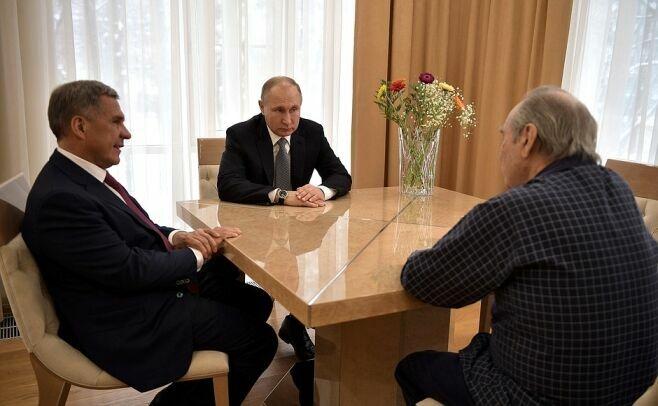 Путин и Минниханов проведали в больнице Шаймиева