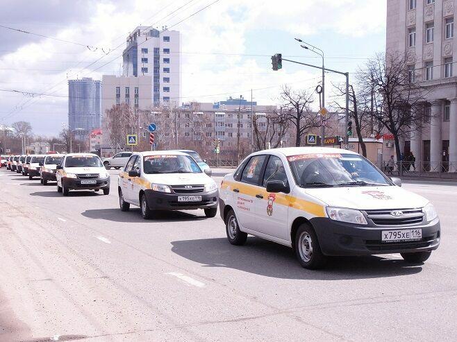 ДОСААФ РТ провел в Казани автопробег в честь Дня Победы