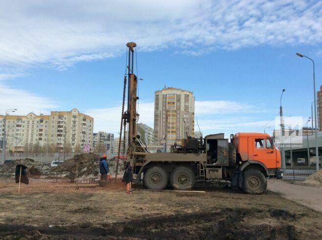 В районе будущей станции метро «Сахарова» в Казани начались геологоразведочные работы