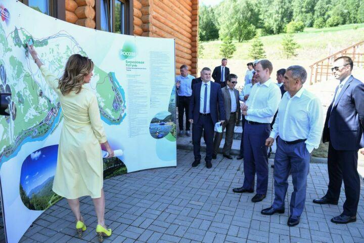 Президент РТ на Алтае ознакомился с туристической ОЭЗ «Бирюзовая Катунь»