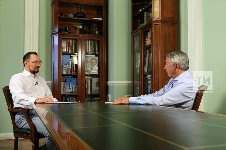 Талгат Абдуллин дал интервью гендиректору «Татмедиа» Андрею Кузьмину для ИА«Татар-информ»