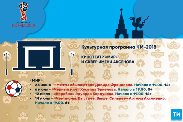 Культурная программа ЧМ-2018: Кинотеатр «Мир» исквер имени Аксенова