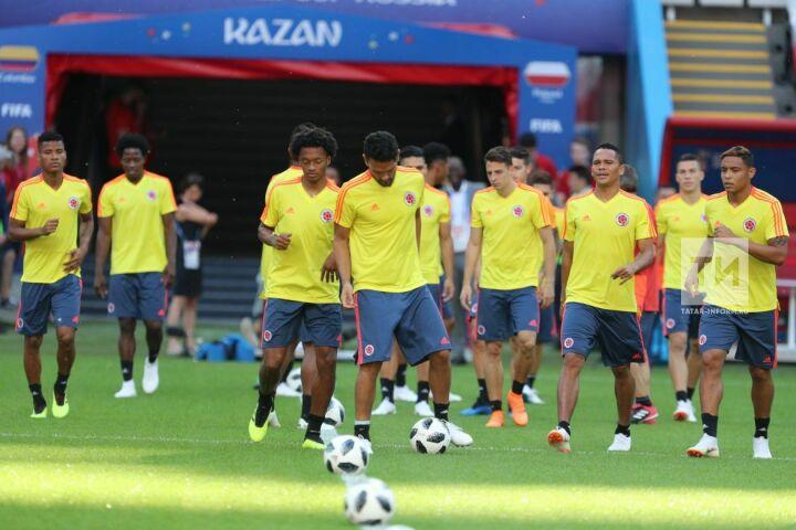 Сборная Колумбии провела предматчевую тренировку на стадионе Kazan-Arena
