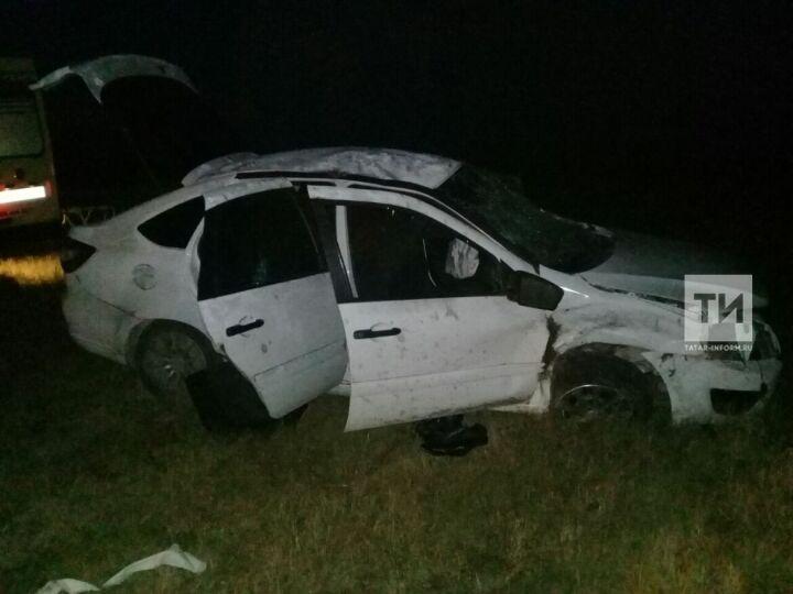 В Татарстане четыре человека пострадали и один погиб в вылетевшей в кювет «Гранте»