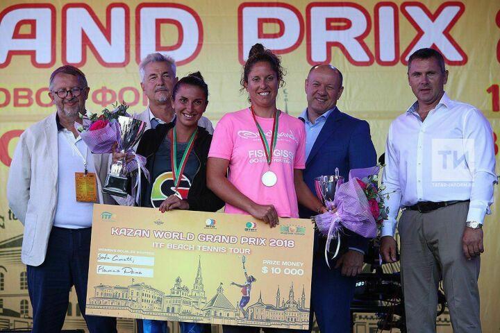 Итальянки стали победительницами турнира по пляжному теннису в Казани