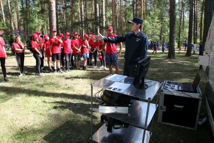 В детском лагере «Аврора» прошел День Росгвардии РТ
