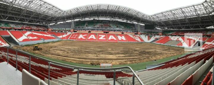 В процессе капремонта газон «Казань Арены» уменьшится