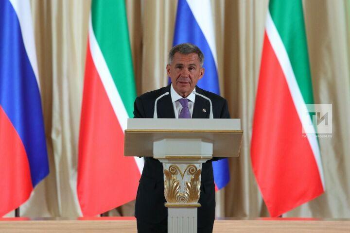 Минниханов: Конституция РТ обеспечила неразрывность единства прав татарстанцев