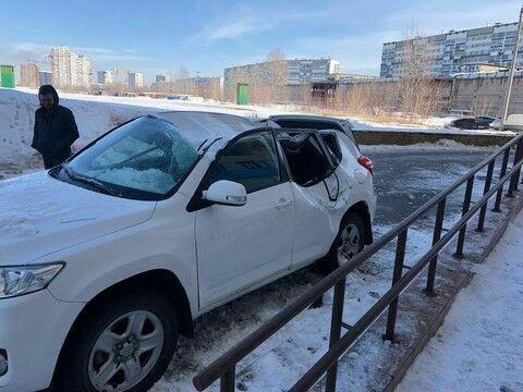 Прокуратура РТ выяснила, что глыба льда упала на внедорожник в Челнах по вине инженера УК