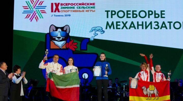 Девушка из Балтасинского района завоевала «бронзу» на зимних сельских спортивных играх в Тюмени