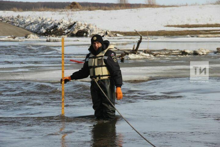 Опасный уровень воды ожидается на реках Малый Черемшан и Кубня в восьми районах Татарстана