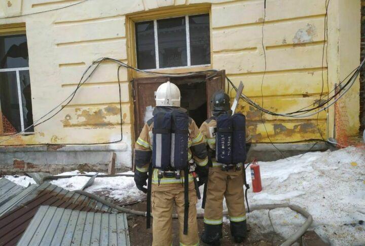 На территории Казанского Богородицкого мужского монастыря произошел пожар