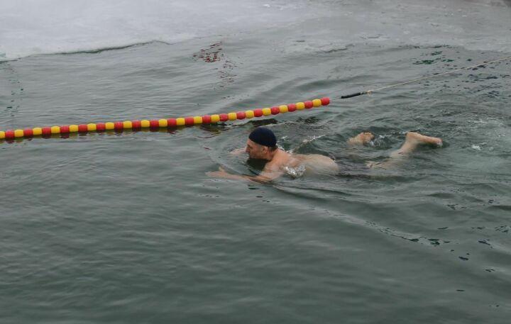 Заплыв 61-летнего моржа в Сокольском пруду Мамадышского района попал в Книгу рекордов Гиннесса