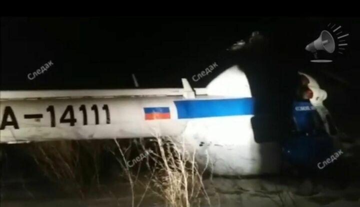 Появилось видео с места вынужденной посадки вертолета под Казанью