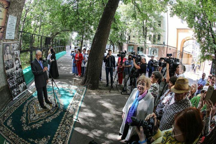 Минтимер Шаймиев открыл вКазани мемориальную доску вчесть композитора Ильгиза Мазитова