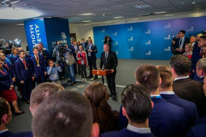 Владимир Путин о российской сборной WorldSkills: Мы вами гордимся