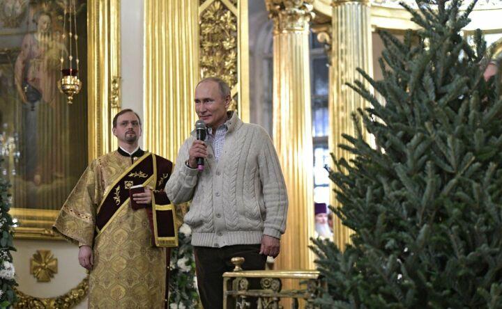 Владимир Путин поздравил россиян с Рождеством Христовым