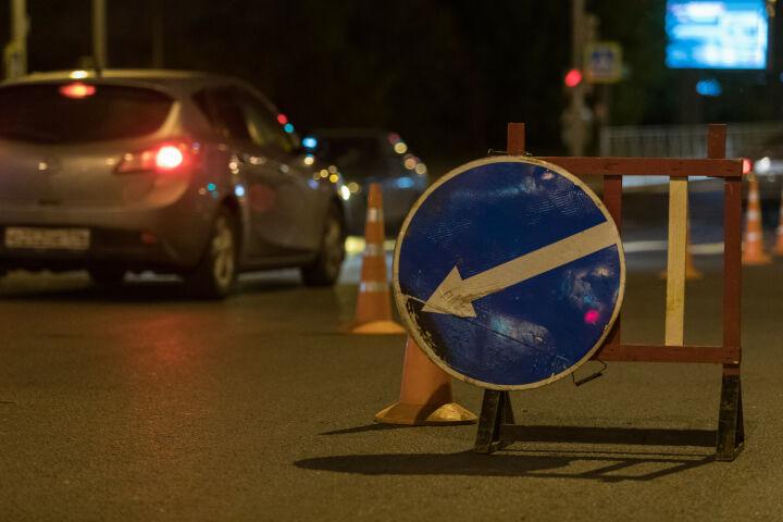 В Казани частично перекрыли движение по улицам Сибгата Хакима и Нигматуллина
