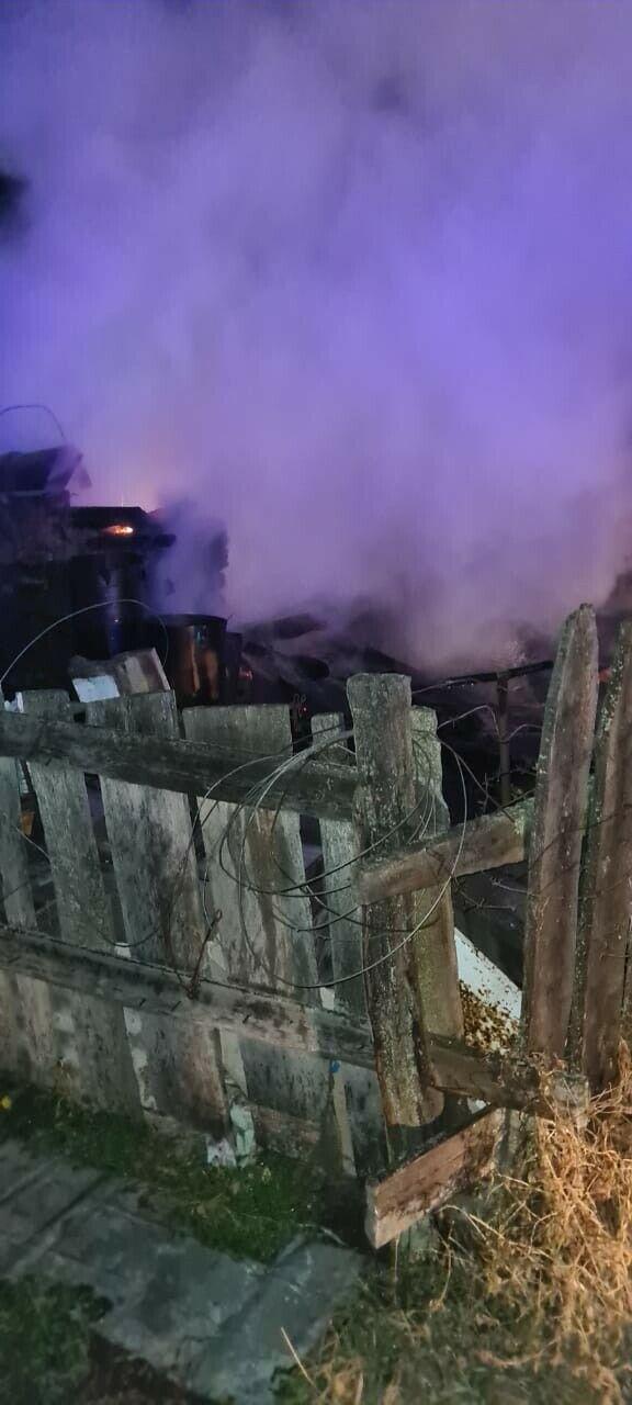 Ночью на пожаре в РТ погиб мужчина, его личность устанавливается