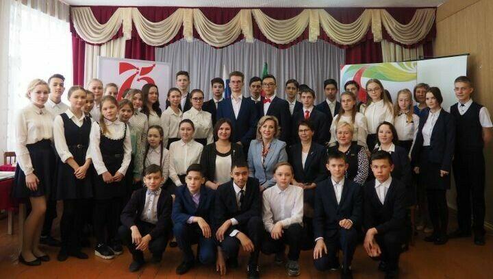 На парламентском уроке юные нурлатцы представили проекты, посвященные 100-летию ТАССР