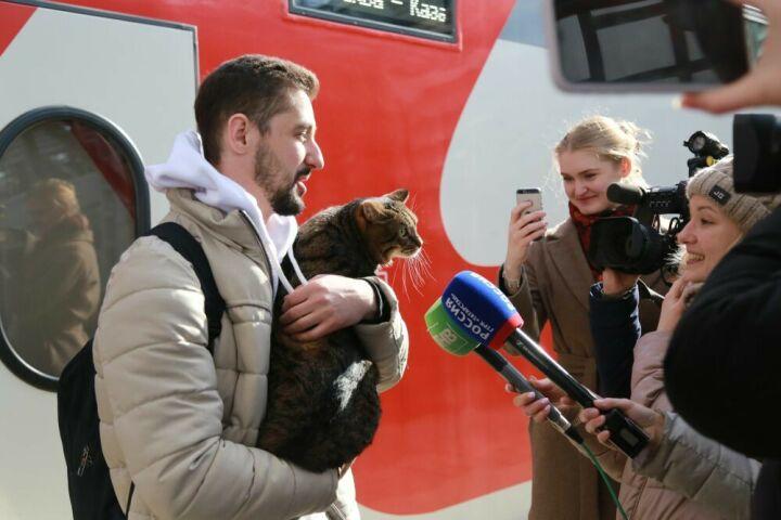 Знаменитый толстый кот Виктор приехал в Казань