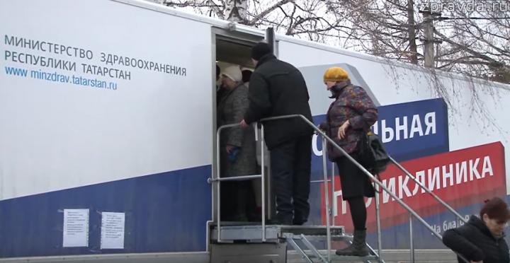 В поселок Васильево прибыл автопоезд со столичными врачами