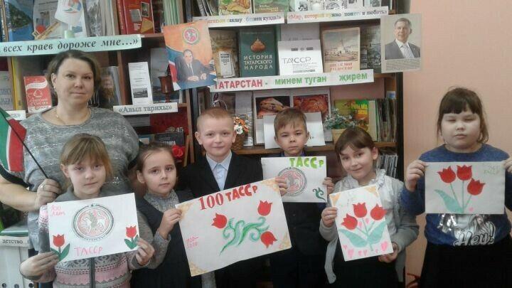 Юные верхнеуслонцы изготовили поздравительные открытки с логотипом ТАССР