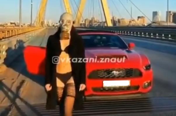 В Казани оштрафовали водителя авто из видео про девушку в противогазе на «Миллениуме»