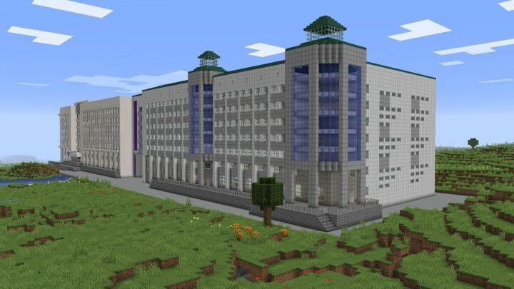 Казанский студент построил КГЭУ в компьютерной игре Minecraft