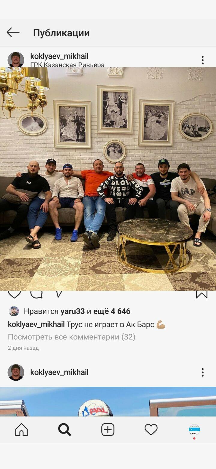 Пауэрлифтер Михаил Кокляев погостил в Казани у друзей-хоккеистов