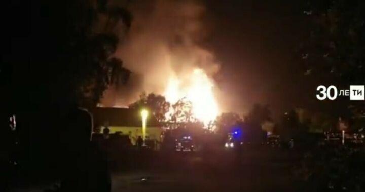 Появилось видео пожара на газораспределительной станции в Казани