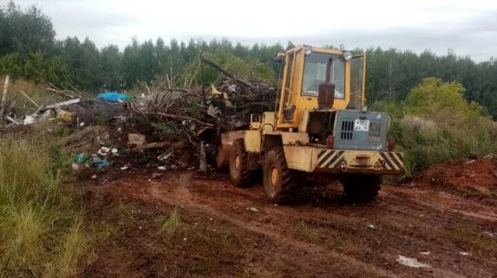 В Камско-Устьинском районе ликвидировали огромную свалку