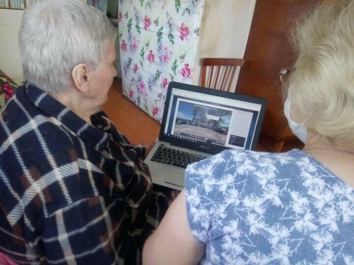 Пожилым верхнеуслонцам устроили виртуальную экскурсию на остров Свияжск