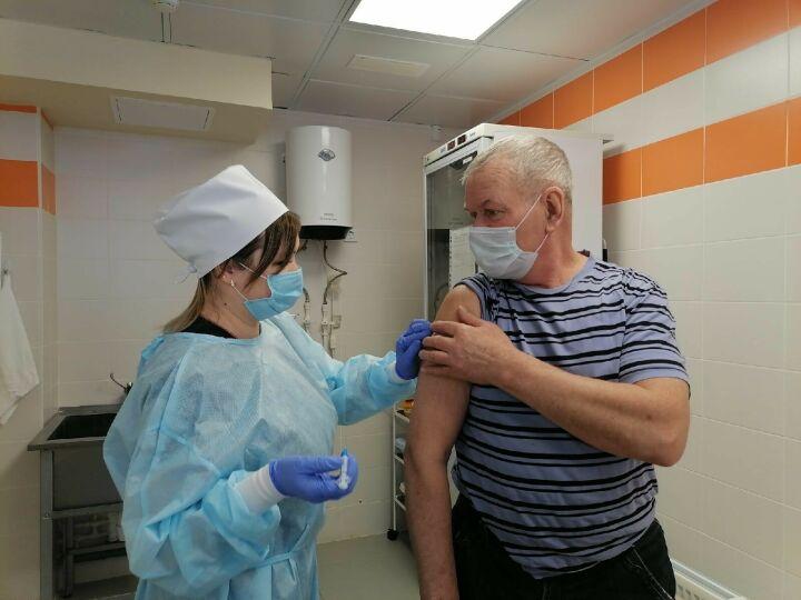 Менделеевских пенсионеров начали прививать от коронавируса