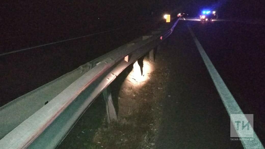 Двое взрослых и ребенок пострадали, влетев на авто в отбойник на трассе М7 в РТ